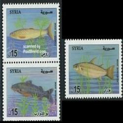 3 عدد تمبر ماهی - سوریه 2006