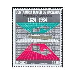 1 عدد تمبر صدو شصتمین سالگرد دفتر حسابرسی ایالتی - مکزیک 1984