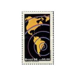 1 عدد تمبر نمایشگاه ارتباطات تله کام آمریکا - برزیل 1988
