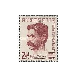 1 عدد تمبر هنری لاوسن - نویسنده و شاعر - استرالیا 1949