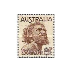1 عدد تمبر سری پستی - بومیان - استرالیا 1950