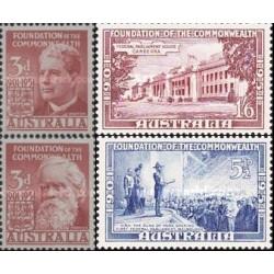 4 عدد تمبر پنجاهمین سالگرد بنیاد مشترک المنافع - استرالیا 1951