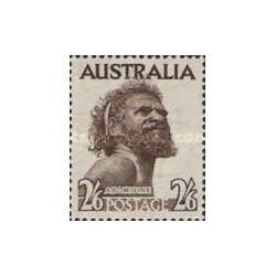 1 عدد تمبر سری پستی - بومیان - استرالیا 1952
