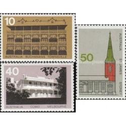 3 عدد تمبر معماری - استرالیا 1973