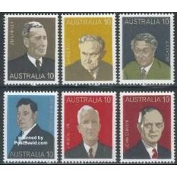 6 عدد تمبر نخست وزیران استرالیا - استرالیا 1975