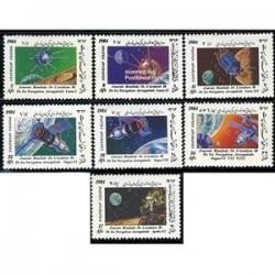 7 عدد تمبر روز فضا - افغانستان 1984