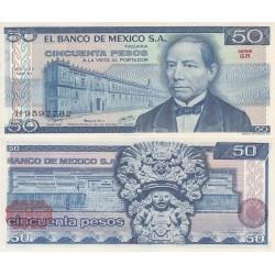 اسکناس 50 پزو - مکزیک 1979 سری GR