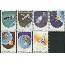 7 عدد تمبر فضا - نیکاراگوئه 1984