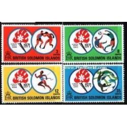4 عدد تمبر مسابقات ورزشی اقیانوس آرام جنوبی  - جزائر سلیمان 1971