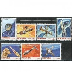 7 عدد تمبر فضا - نیکاراگوئه 1982