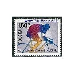 1 عدد تمبر تور دوچرخه سواری صلح - لهستان 1977