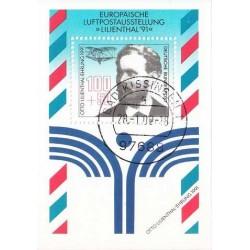 سونیرشیت پست هوایی - ممهور به مهر روز انتشار - جمهوری فدرال آلمان 1991