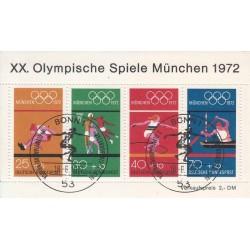 سونیرشیت المپیک مونیخ - ممهور به مهر روز انتشار - جمهوری فدرال آلمان 1972