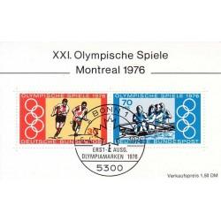 سونیرشیت المپیک مونترال - ممهور به مهر روز انتشار - جمهوری فدرال آلمان 1976