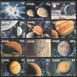 12 عدد تمبر منظومه شمسی - سیسکی 1991