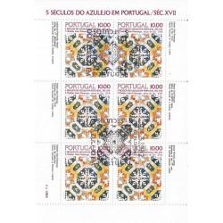 مینی شیت کاشیها - ممهور به مهر روز انتشار - پرتغال 1982