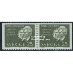 2 عدد تمبر برندگان جایزه نوبل 1903 - جفت بوکلت - سوئد 1963