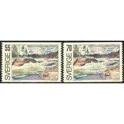 2 عدد تمبر حفاظت طبیعت اروپائی - سوئد 1970