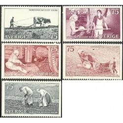 5 عدد تمبر موزه نوردیک - سوئد 1973