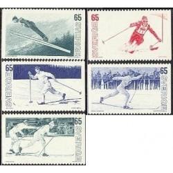 5 عدد تمبر اسکی - سوئد 1974