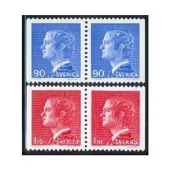 4 عدد تمبر سری پستی - جفت بوکلت - سوئد 1975