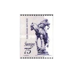 1 عدد تمبر کارل مایلز - مجسمه ساز - سوئد 1975