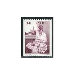 1 عدد تمبر صنایع دستی - سوئد 1976