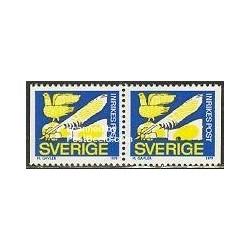 2 عدد تمبر سری پستی - جفت بوکلت - سوئد 1979