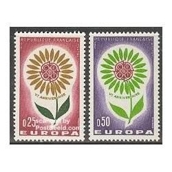2 عدد تمبر مشترک اروپا - Europa Cept - فرانسه 1964
