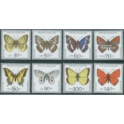 8 عدد تمبر جوانان ، پروانه ها - جمهوری فدرال آلمان 1991