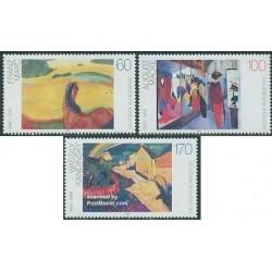 3 عدد تمبر تابلو نقاشی مدرن  - جمهوری فدرال آلمان 1992