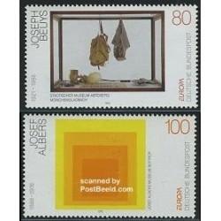 2 عدد تمبر مشترک اروپا - Europa Cept - هنر مدرن - جمهوری فدرال آلمان 1993