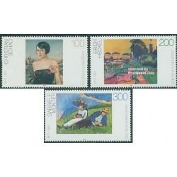 3 عدد تمبر تابلو نقاشیهای مدرن - جمهوری فدرال آلمان 1994 قیمت 8.2 دلار