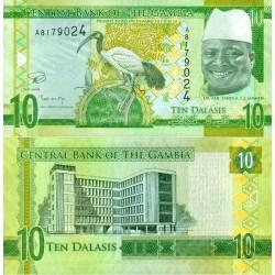 اسکناس 10 دالاسی - گامبیا 2015