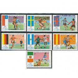 7 عدد تمبر جام جهانی فوتبال - کوبا 1985