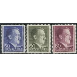 3 عدد تمبر سری پستی هیتلر - دولت مرکزی آلمان 1941