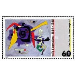1 عدد تمبر  تابلو نقاشی اثر  ویلی بامیستر - جمهوری فدرال آلمان 1989