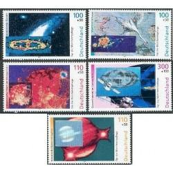 5 عدد تمبر فضای کیهان با هولوگرام - Cosmos - جمهوری فدرال آلمان 1999