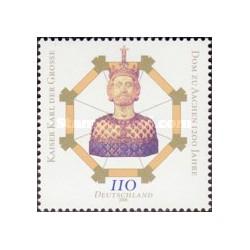 1 عدد تمبر هزارودویستمین سالگرد کلیسای آخن - جمهوری فدرال آلمان 2000