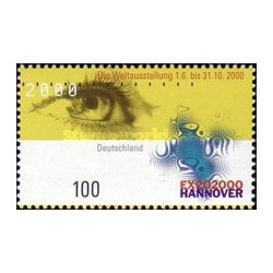 1 عدد تمبر نمایشگاه 2000 هانوفر - جمهوری فدرال آلمان 2000