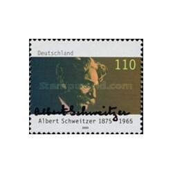1 عدد تمبر آلبرت شوایتزر - موسیقیدان - جمهوری فدرال آلمان 2000
