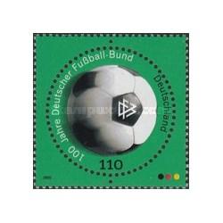 1 عدد تمبر دایره ای صدمین سالگرد اتحادیه فوتبال آلمان - جمهوری فدرال آلمان 2000