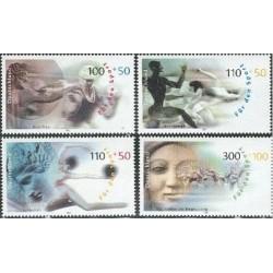 4 عدد تمبر ورزش و صلح - خیریه - جمهوری فدرال آلمان 2000