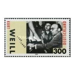 1 عدد تمبر صدمین سالگرد تولد کورت وایل - آهنگساز - جمهوری فدرال آلمان 2000