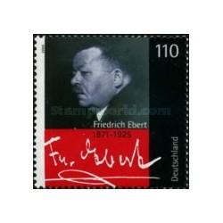 1 عدد تمبر فردریش ابرت - نخستین رئیس جمهور آلمان - جمهوری فدرال آلمان 2000
