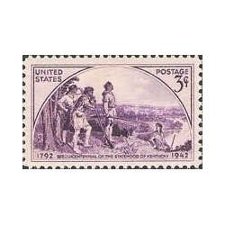 1 عدد تمبر صدو پنجاهمین سال تاسیس ایالت کنتاکی - آمریکا 1942