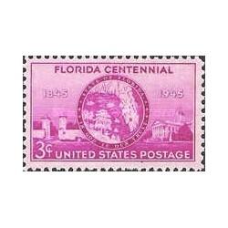1 عدد تمبر صدمین سال تاسیس ایالت فلوریدا - آمریکا 1945