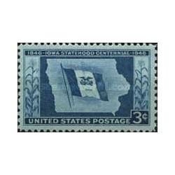 1 عدد تمبر صدمین سال تاسیس ایالت آیووا - آمریکا 1946
