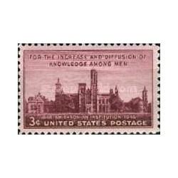 1 عدد تمبر موسسه اسمیتسونین - بزرگترین موزه علمی،فرهنگی،تحقیقاتی جهان - آمریکا 1946