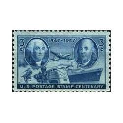 1 عدد تمبر صدمین سال تمبر پستی ایالات متحده - آمریکا 1947